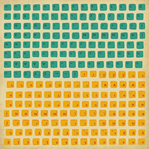 Kaisercraft - Technologic Collection - 12 x 12 Sticker Sheet - Keyboard