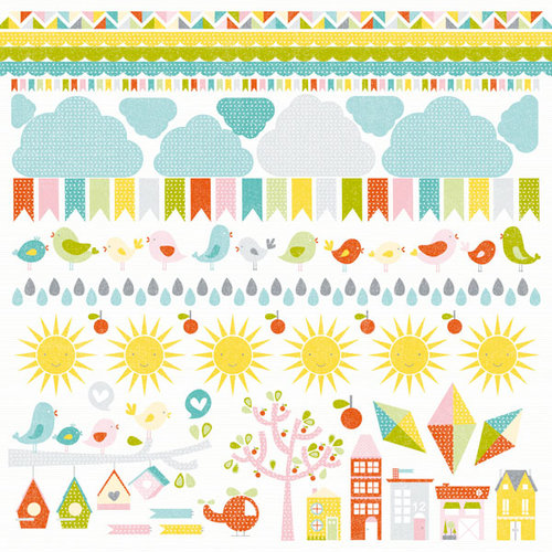Kaisercraft - Fine and Sunny Collection - 12 x 12 Sticker Sheet - Sunshine