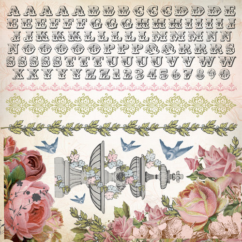 Kaisercraft - The Lakehouse Collection - 12 x 12 Sticker Sheet