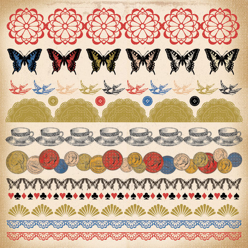 Kaisercraft - Miss Match Collection - 12 x 12 Sticker Sheet