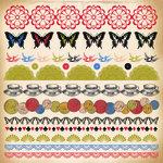 Kaisercraft - Miss Match Collection - 12 x 12 Sticker Sheet