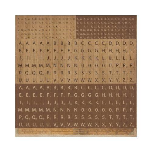 Kaisercraft - Timeless Collection - 12 x 12 Sticker Sheet - Scrabble
