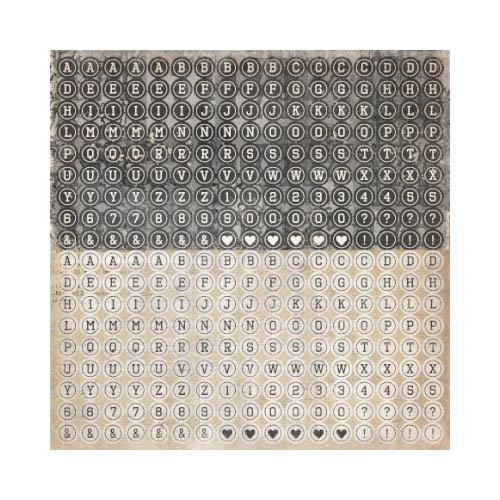 Kaisercraft - Timeless Collection - 12 x 12 Sticker Sheet - Type