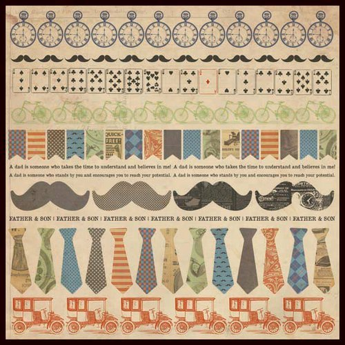 Kaisercraft - Sears and Son Collection - 12 x 12 Sticker Sheet