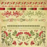 Kaisercraft - Twig and Berry Collection - Christmas - 12 x 12 Sticker Sheet