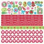 Kaisercraft - Mint Twist Collection - Christmas - 12 x 12 Sticker Sheet - Numbers