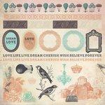 Kaisercraft - Periwinkle Collection - 12 x 12 Sticker Sheet - Frames