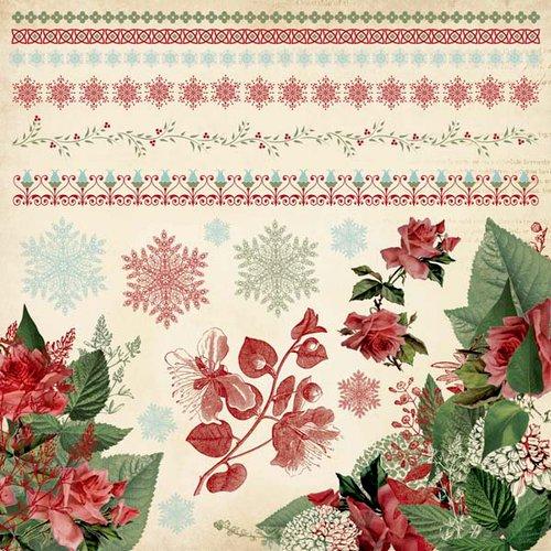 Kaisercraft - Just Believe Collection - Christmas - 12 x 12 Sticker Sheet