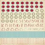 Kaisercraft - Just Believe Collection - Christmas - 12 x 12 Sticker Sheet - Alphabet