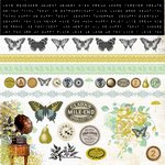Kaisercraft - Pickled Pear Collection - 12 x 12 Cardstock Sticker Sheet