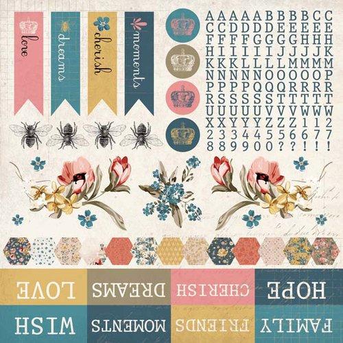 Kaisercraft - Forget-Me-Not Collection - 12 x 12 Sticker Sheet