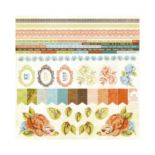 Kaisercraft - Marigold Collection - 12 x 12 Sticker Sheet