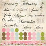 Kaisercraft - 365 Days Collection - 12 x 12 Cardstock Sticker Sheet