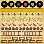 Kaisercraft - In the Attic Collection - 12 x 12 Sticker Sheet
