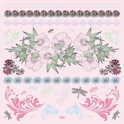 Kaisercraft - Lavender Haze Collection - 12 x 12 Sticker Sheet