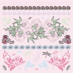 Kaisercraft - Lavender Haze Collection - 12 x 12 Sticker Sheet
