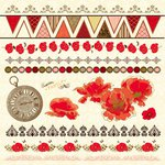 Kaisercraft - Remember Me Collection - 12 x 12 Sticker Sheet