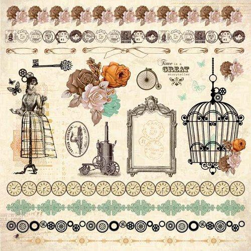 Kaisercraft - Miss Empire Collection - 12 x 12 Sticker Sheet