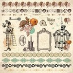 Kaisercraft - Miss Empire Collection - 12 x 12 Sticker Sheet