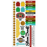 Kaisercraft - Game On Collection - Sticker Sheet - Basketball