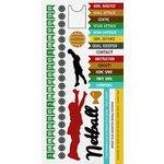 Kaisercraft - Game On Collection - Sticker Sheet - Netball