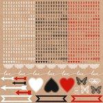 Kaisercraft - Mix and Match Collection - 12 x 12 Sticker Sheet - Alphabet