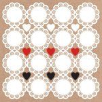 Kaisercraft - Mix and Match Collection - 12 x 12 Sticker Sheet - Doilies