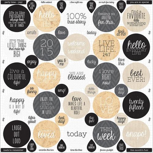 Kaisercraft - Hello Today Collection - 12 x 12 Cardstock Sticker Sheet - Quotes