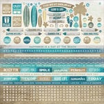 Kaisercraft - Sandy Toes Collection - 12 x 12 Sticker Sheet