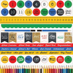 Kaisercraft - 2 Cool 4 School Collection - 12 x 12 Sticker Sheet