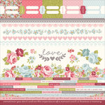 Kaisercraft - Secret Garden Collection - 12 x 12 Sticker Sheet