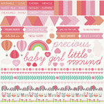 Kaisercraft - Little One Collection - 12 x 12 Sticker Sheet - Girl