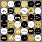 Kaisercraft - A Touch of Gold Collection - 12 x 12 Sticker Sheet