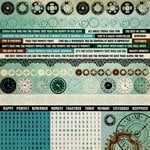 Kaisercraft - Time Machine Collection - 12 x 12 Sticker Sheet