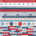 Kaisercraft - Sail Away Collection - 12 x 12 Sticker Sheet