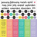 Kaisercraft - My Year, My Story Collection - 12 x 12 Sticker Sheet - Months