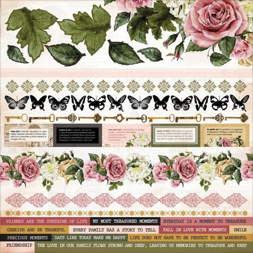Kaisercraft - Treasured Moments Collection - 12 x 12 Sticker Sheet