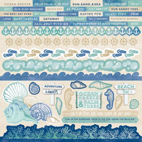 Kaisercraft - Coastal Escape Collection - 12 x 12 Sticker Sheet