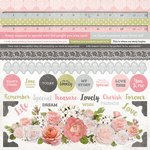 Kaisercraft - Cottage Rose Collection - 12 x 12 Sticker Sheet