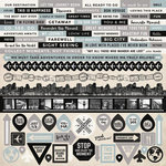 Kaisercraft - Just Landed Collection - 12 x 12 Sticker Sheet