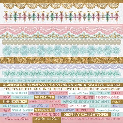 Kaisercraft - Christmas Wishes Collection - 12 x 12 Sticker Sheet