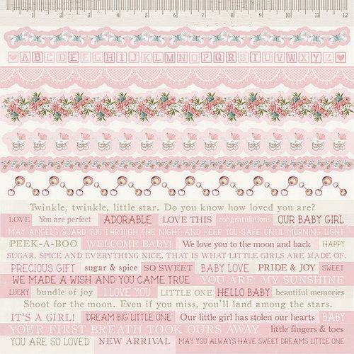 Kaisercraft - Peek-A-Boo Collection - 12 x 12 Sticker Sheet - Girl