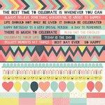 Kaisercraft - Party Time Collection - 12 x 12 Sticker Sheet