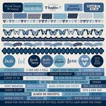 Kaisercraft - Indigo Skies Collection - 12 x 12 Sticker Sheet