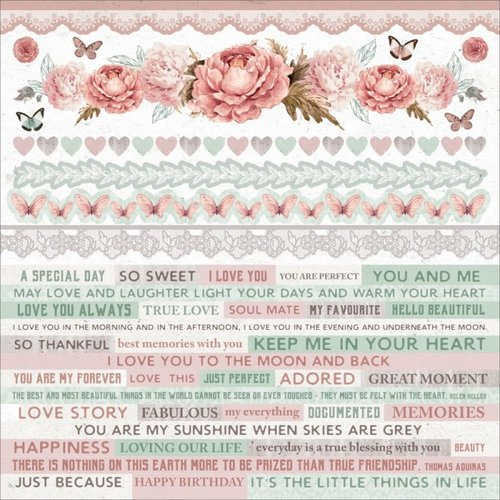 Kaisercraft - Sage and Grace Collection - 12 x 12 Sticker Sheet