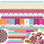 Kaisercraft - Bombay Sunset Collection - 12 x 12 Sticker Sheet