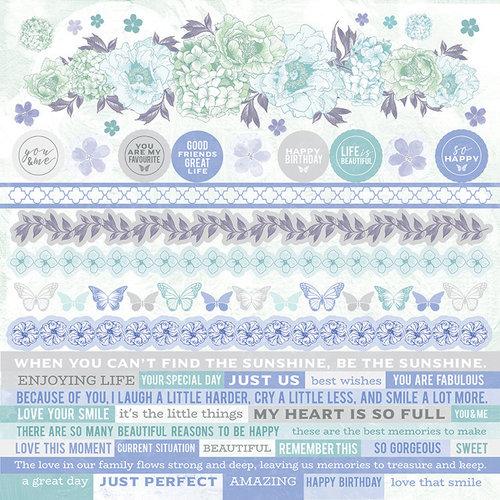 Kaisercraft - Lilac Whisper Collection - 12 x 12 Sticker Sheet