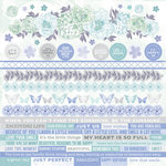 Kaisercraft - Lilac Whisper Collection - 12 x 12 Sticker Sheet