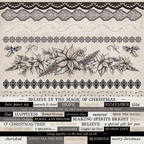 Kaisercraft - Christmas Edition Collection - 12 x 12 Sticker Sheet