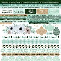 Kaisercraft - Mint Wishes Collection - Christmas - 12 x 12 Sticker Sheet